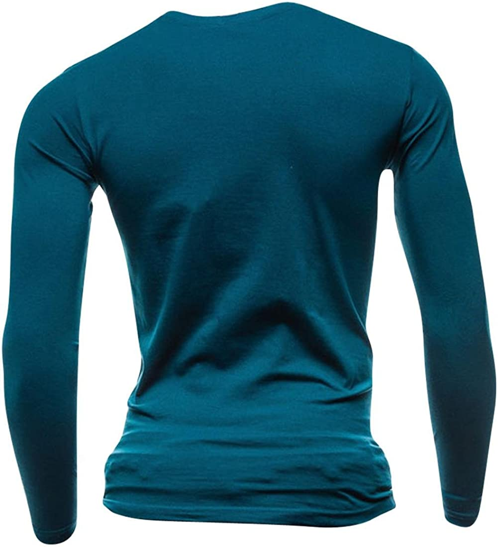 jeansian Hommes Mode Coton T-Shirt pour Men Simple Casual Solid Color T Shirt D524