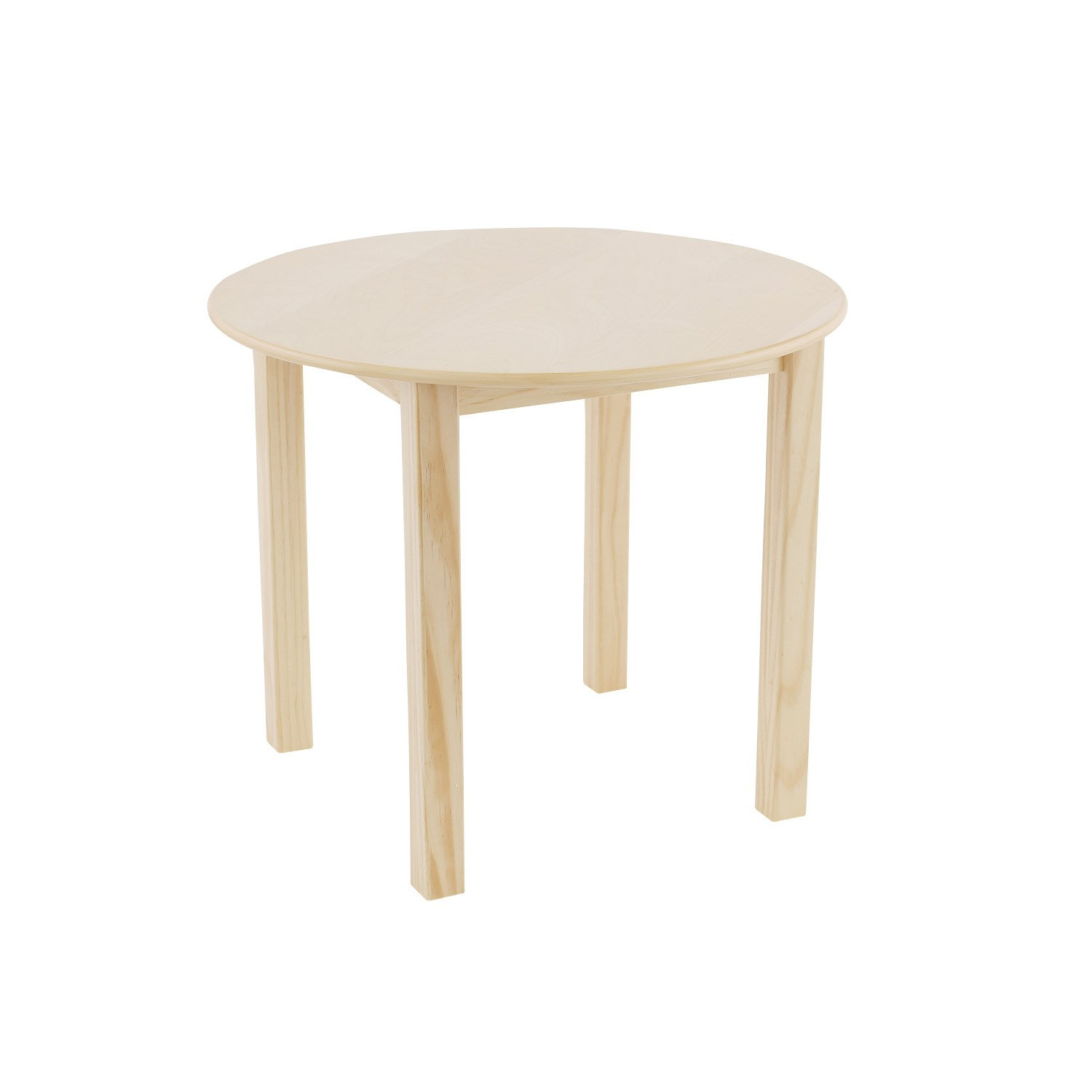 Max & Lily Natural Wood Kid and Toddler Round Table, Natural