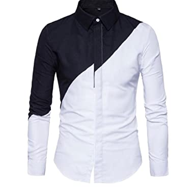 YUNY Mens Lapel Warm Long Sleeve Buttons Flannel Printing Thicken Dress Shirt AS12 M