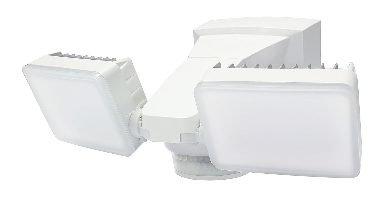 LM-2402WH LED Motion Security Light, 2000 Lumen, 240° Motion Sensor + Exit Sensor, Dual Head, Hi-Lo Brightness