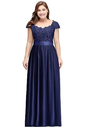 7cabfe90a7051a Misshow Abschlusskleid Große Größen Elegant Abendkleider Lang Chiffon Prom  Dress