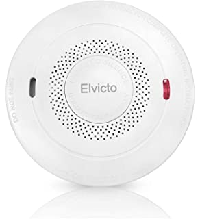 Elvicto Smoke Combination Photoelectric Smoke&Carbon Monoxide Detector 10 Year Battery Operated, Travel Portable Fire and