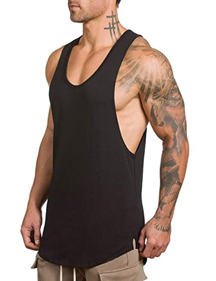 4be9970d4f1 Image Unavailable. Image not available for. Color  FLYFIREFLY Men s Gym Tank  Tops Bodybuilding ...
