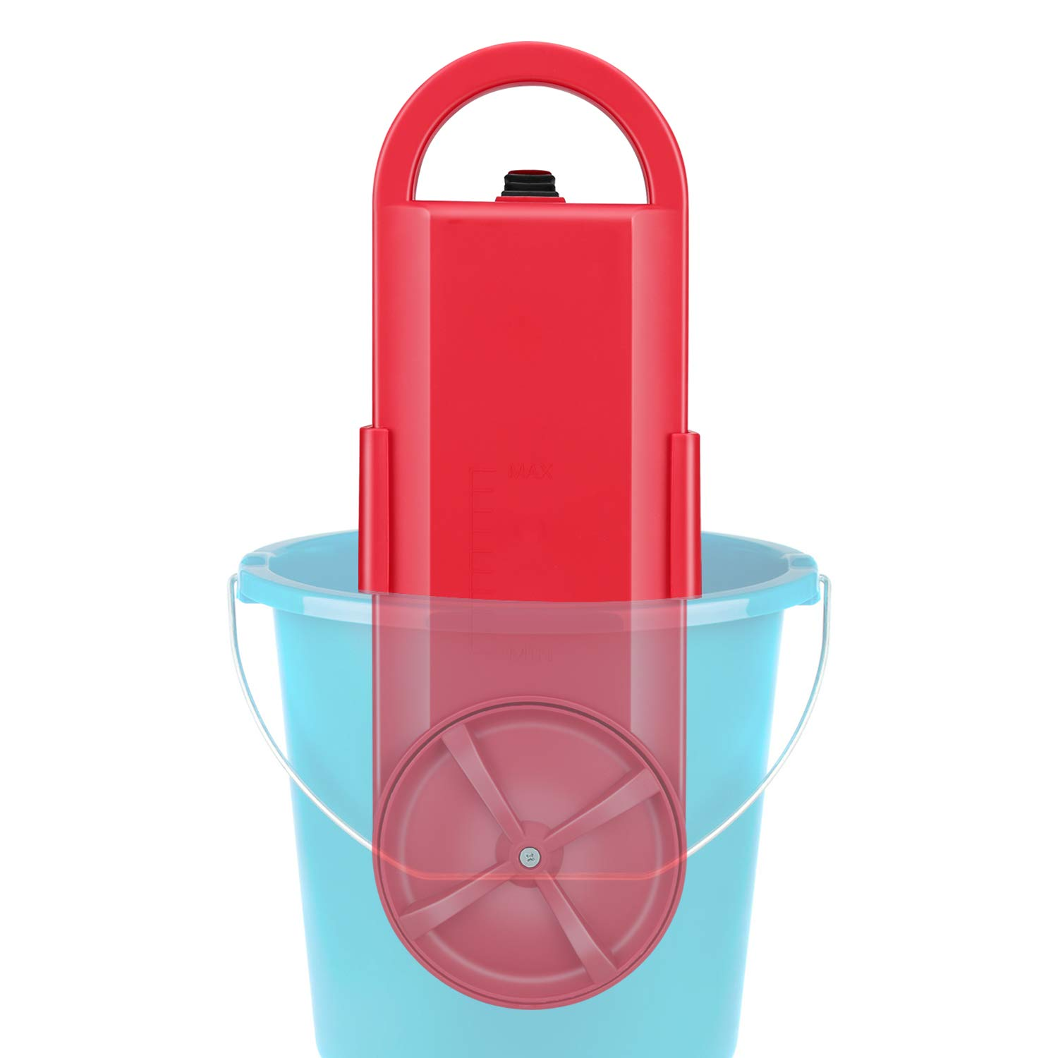 Portable Washing Machine | Handy Washing Machine | Mini Washer | Bucket Use | Travel & Outdoor Electric Compact Washer |Suitable for Single Person, Bachelors, Hostel Peoples | RED by Tonha by Tonha