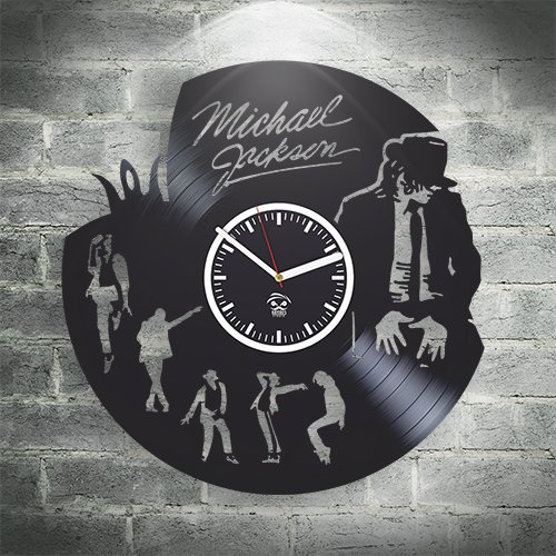 Kovides Michael Jackson Pop Quinn Vinyl Wall Clock Home Decor, Decoration Living Room Inspirational, Wall Stickers, Vinyl Wall Clock with Silent Mechanism, Home Decor, Modern Art