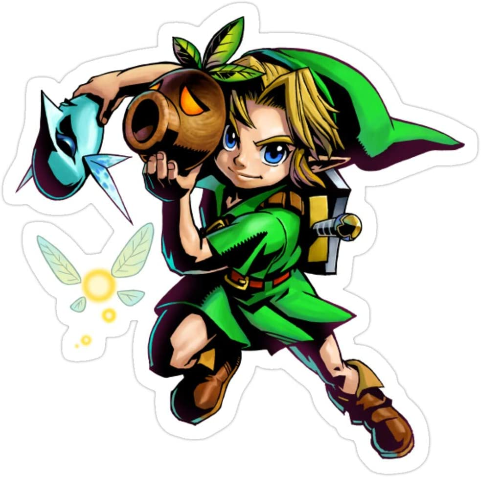 Story Storm Store Legends of Zelda Majoras Mask Link. Stickers (3 Pcs/Pack)