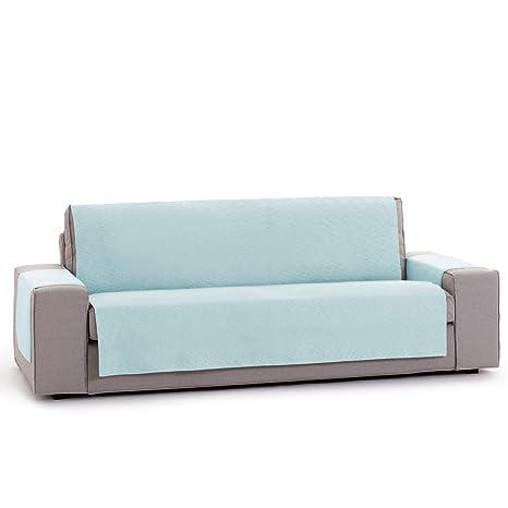 Innovaciones Roser Funda Cubre Sofá Práctica Modelo Kioto, Color Azul, Medida 1 Plaza – 55cm Respaldo