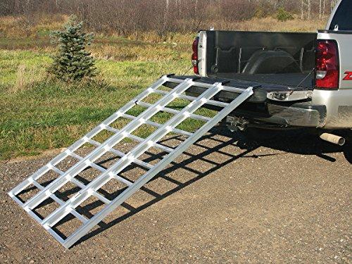 Yutrax Tx104 Silver 78 Inch Xl Aluminum Tri Fold Ramp Utv
