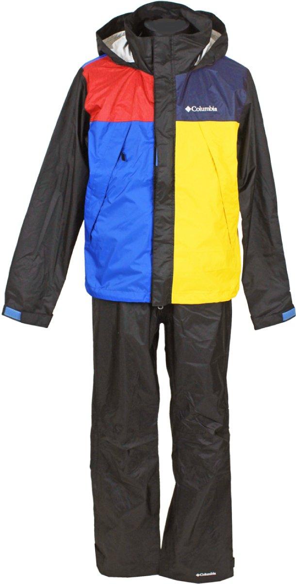 コロンビア(Columbia) シンプソンサンクチュアリレインスーツ(SIMPSON SANCTUARY RAINSUIT) PM0124 B0799H8FFM S|011:Black Multi 011:Black Multi S
