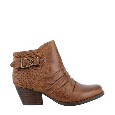 9659fd85d0e6 BareTraps Women s Reinella Ankle Boots Auburn 7.5 M