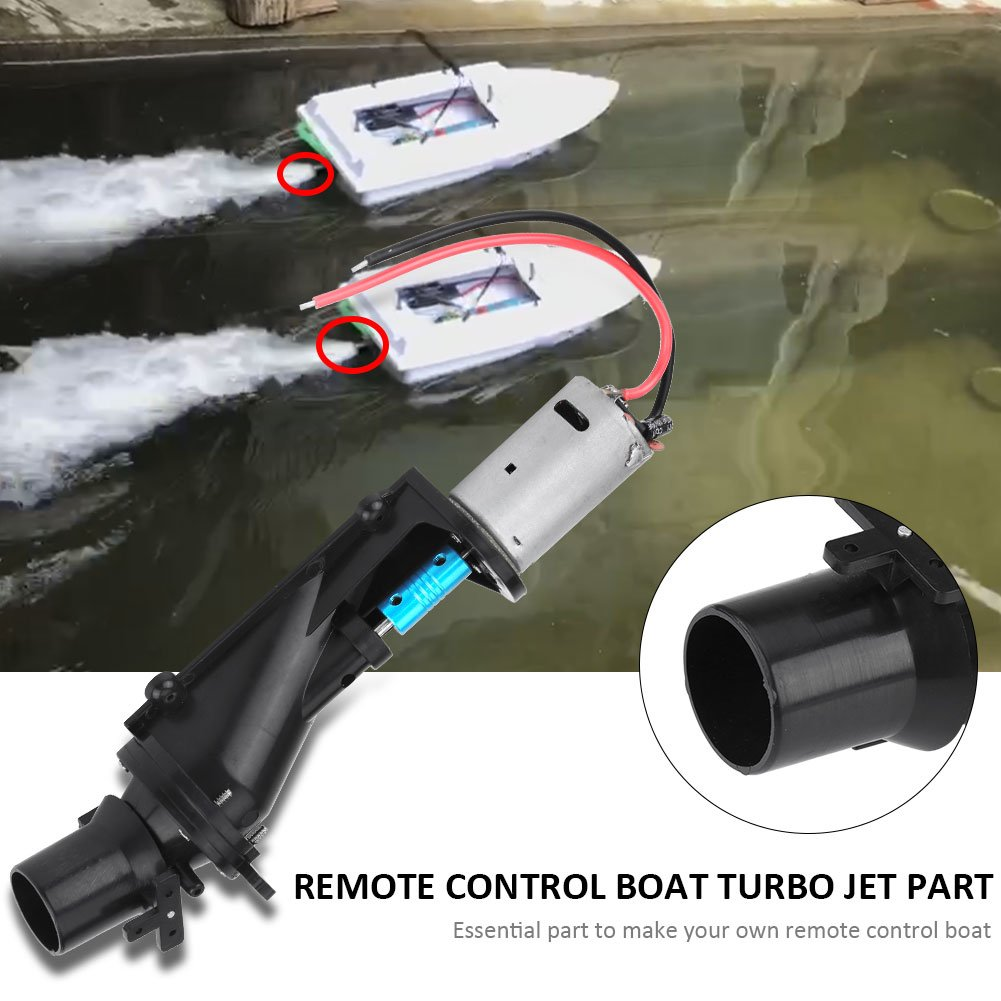 Amazon.com: RC Boat Toy Ship Turbo Jet with Motor Remote Control Accessory DIY Part Set: Toys & Games