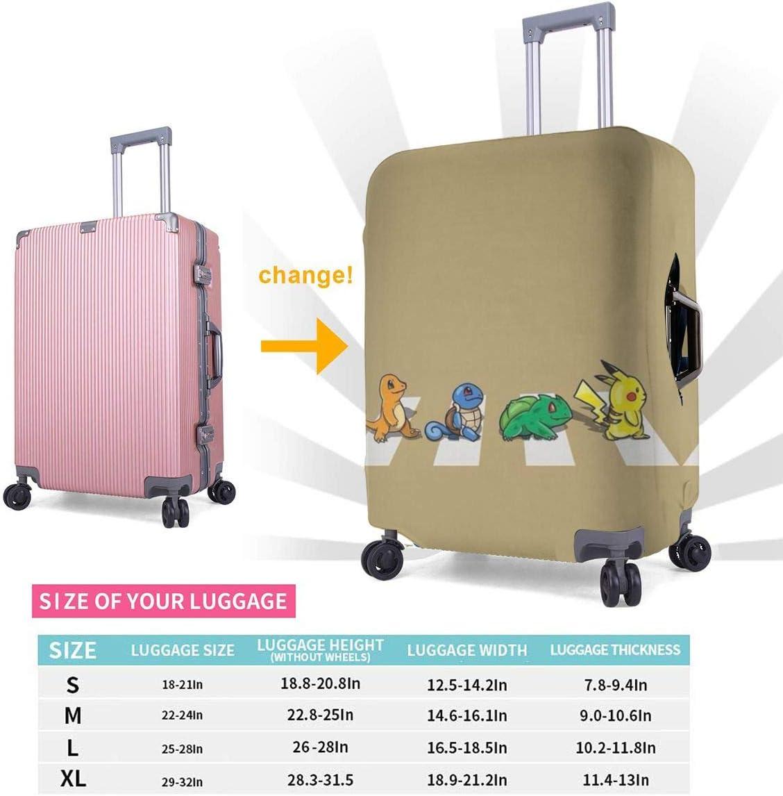 Suitcase Protector Pokemon Pikachu Stretch Elastic Travel Luggage Protector Multiple Sizes
