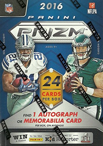 2016 Panini Prizm Series Factory Sealed Blaster Box of Packs with One Premier JERSEY RELIC or Autographed Card per box!