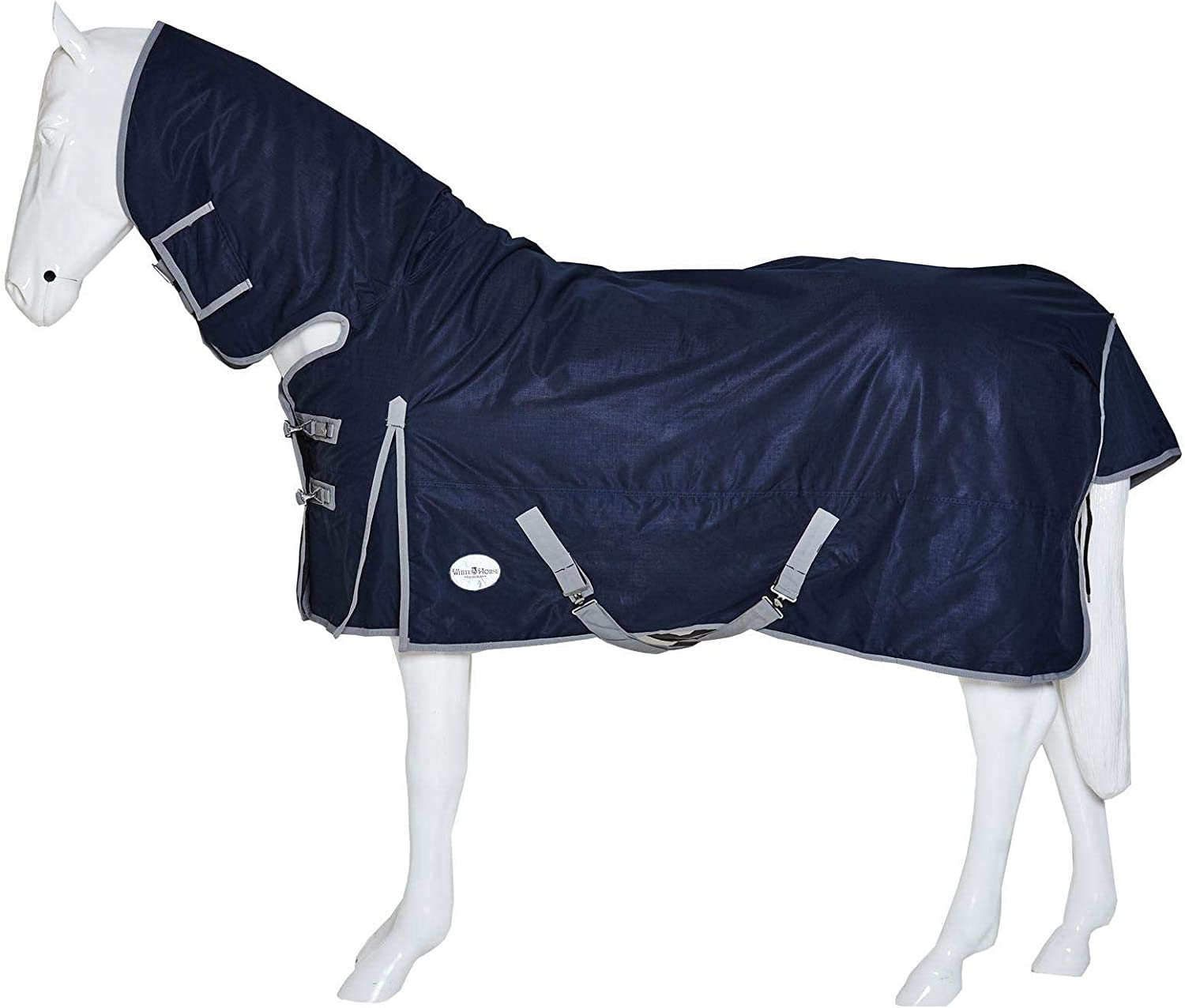 Horse Pony Outdoor No Fill No Neck White Horse Equestrian Plain Turnout Rug