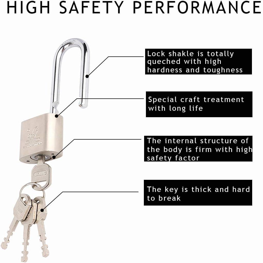 Keyed Different Padlock Set for Indoor Outdoor Use Katfort 1.57 inch Padlock with Keys 2 Pack 40mm