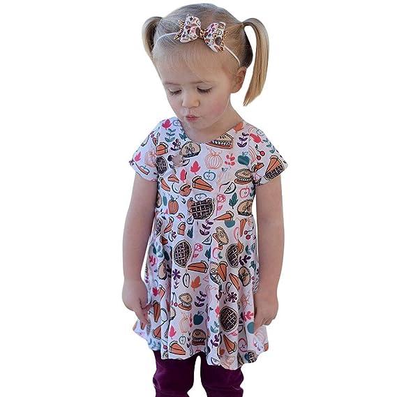 Ropa de Navidad bebé,ZARLLE 2018 Vestido de niña Vestido para Bebés Ropa Impresa de