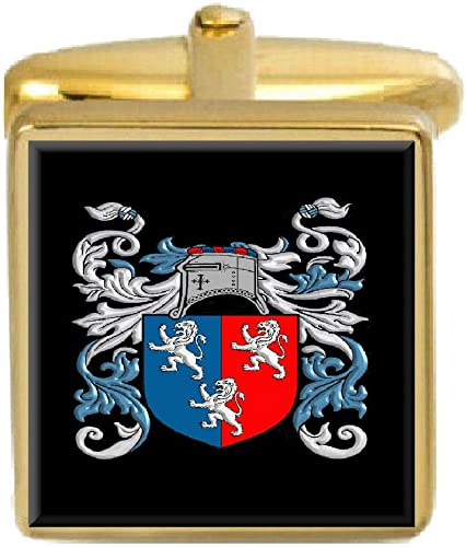 Select Gifts Akhurst England Family Crest Surname Coat Of Arms Cufflinks Personalised Case