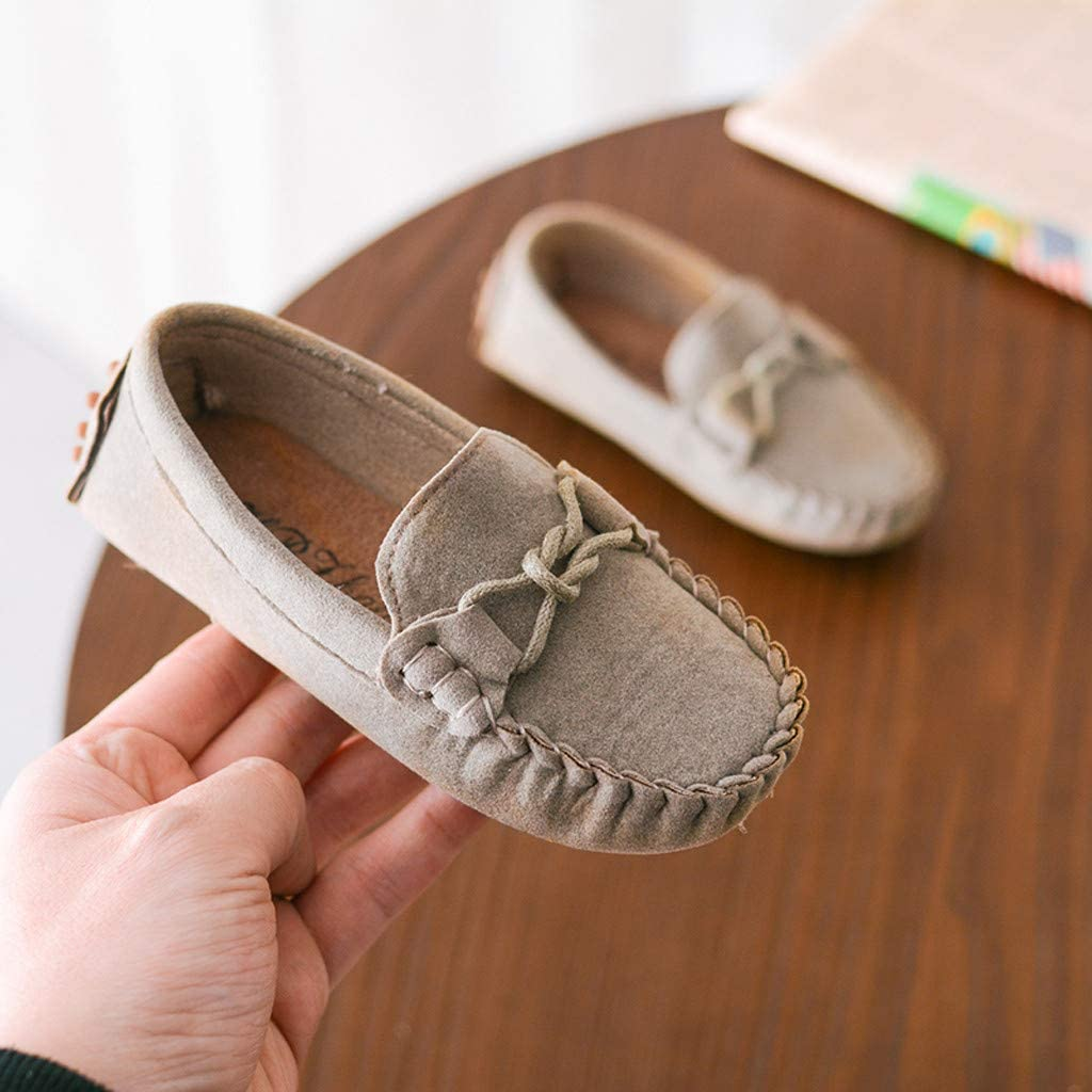 FRAUIT Mocassini Bambina Scamosciata Scarpe in Pelle per Feste per Ragazze Scarpe Bambino Eleganti Casual Loafer Espadrillas basse Sandali Scarpe da Barca Sneakers