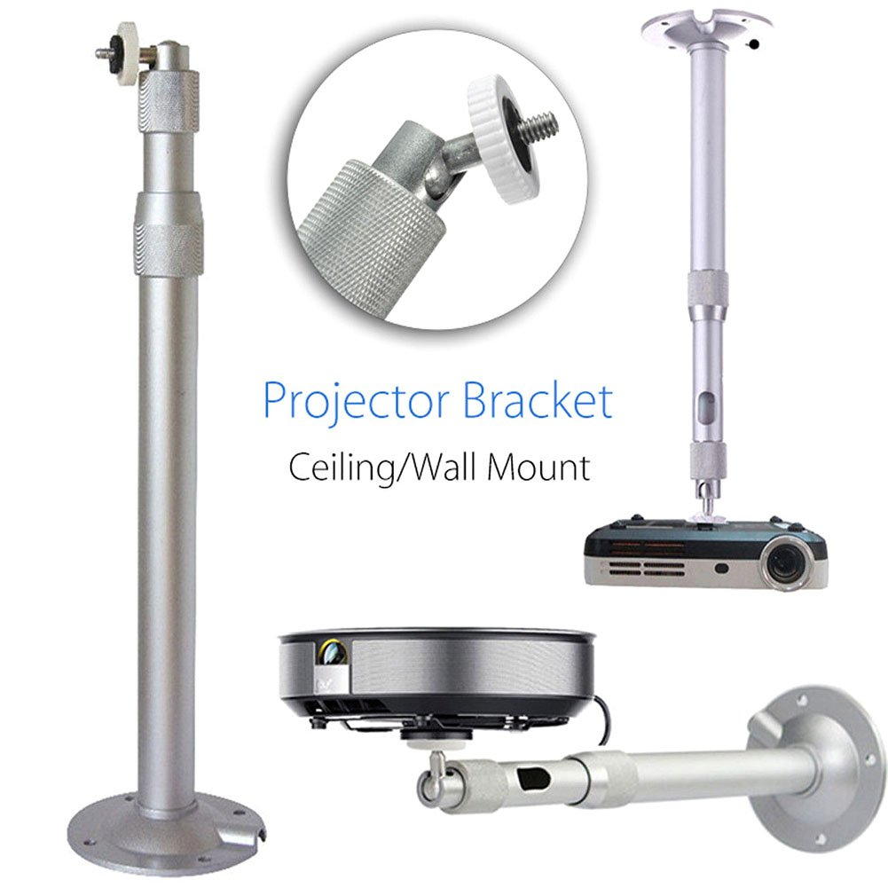 Dxlta Universal 20-40cm Projector Ceiling Wall Mount Aluminium Bracket 15KG Capacity