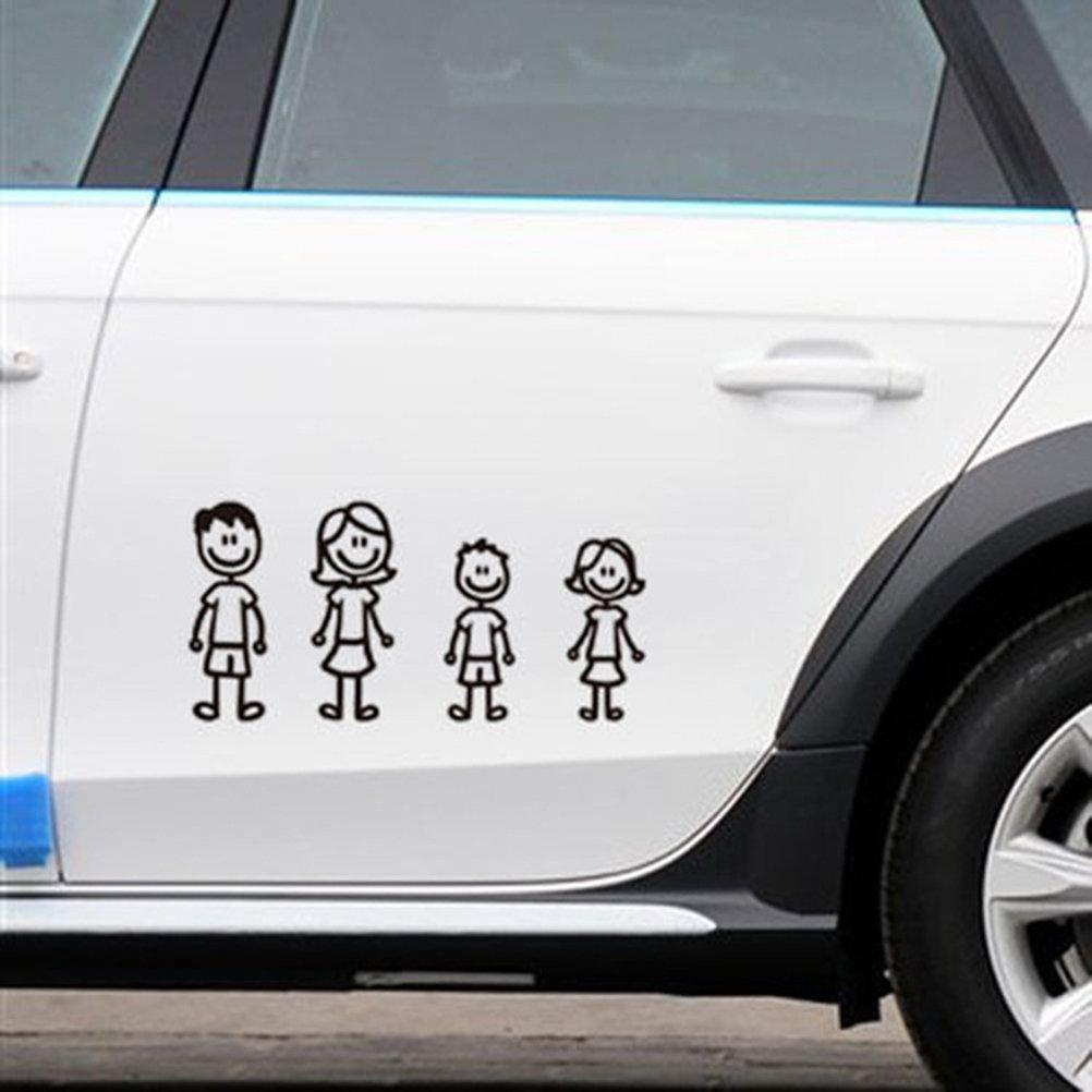 vorcool Auto decorativo para Familias con kazten Perros para ventana parachoques reflectantes Negro