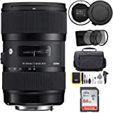 Sigma 18-35mm F1.8 Art DC HSM Lens for Canon DSLR Cameras (210101) with Sigma USB Dock + 64GB SD Card & Advanced Holiday Phot