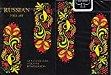 Russian Folk Art Limited Edition Black Playing Cards Poker Size Deck USPCC