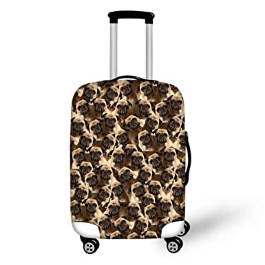 262dcd09f089 Coloranimal Cute Pug Prints Travel Luggage Protective Cover Apply to 18-22  Inch Cases