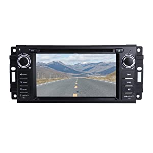 """MCWAUTO Car Stereo GPS DVD Player for Dodge Ram Challenger Jeep Wrangler JK Head Unit Single Din 6.2"""" Touch Screen Indash Radio Receiver with Navigation Bluetooth/3G"""