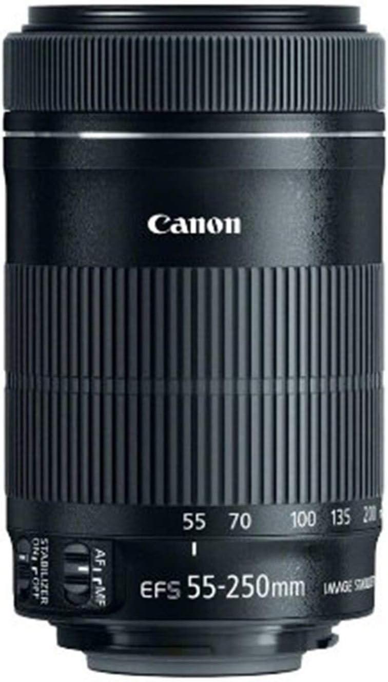 Canon EF-S- Objetivo STM 55-250 mm f/4-5.6 55-250 mm, Color Negro ...