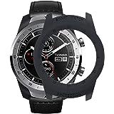 TicWatch Pro Case SIKAI Protective Anti-Scratch Bumper Cover for TicWatch Pro Smart Watch Ultra-Light Multi-Colors (Black)