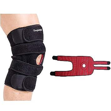 fab14049f9 Esmilelife Knee Brace Open Patella Neoprene Breathable Knee Support  Stabilizer Braces for Running Ligament Repair Arthritic