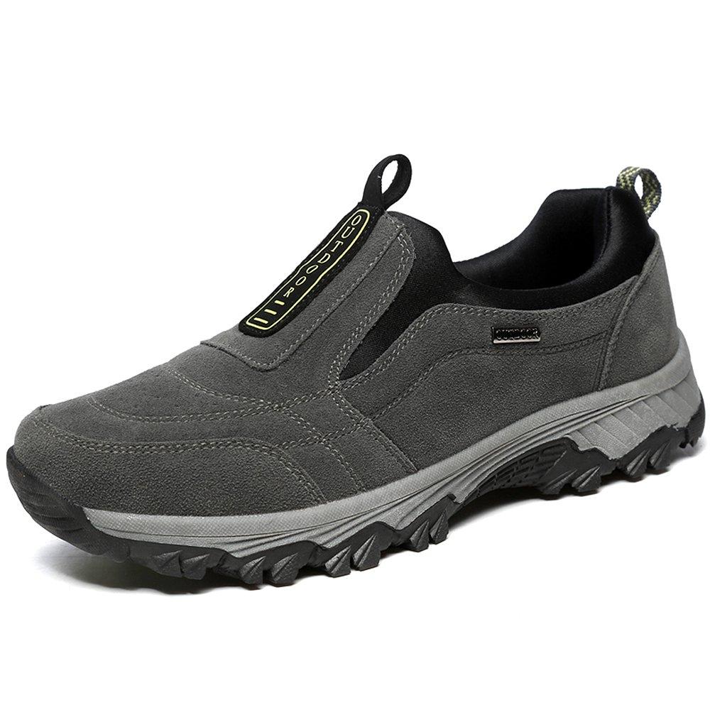 (ウィロース)VILOCYハイキングシューズ メンズ スエード スリッポン ローカット アウトドア スニーカー 登山靴 B076DW8MBQ 27.0 cm|グレー グレー 27.0 cm