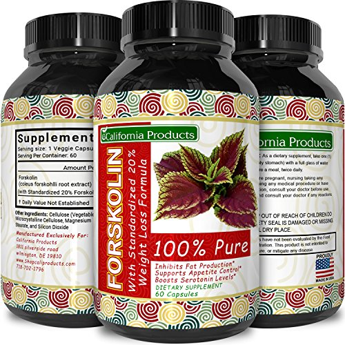 Forskolin-Weight-Loss-Supplement-for-Men-and-Women--Burns-Body-Fat-and-Boosts-Metabolism--Natural-Pure-Coleus-Forskohlii-Extract--Standardized-20-Forskolin--60-Capsules-by-California-Products