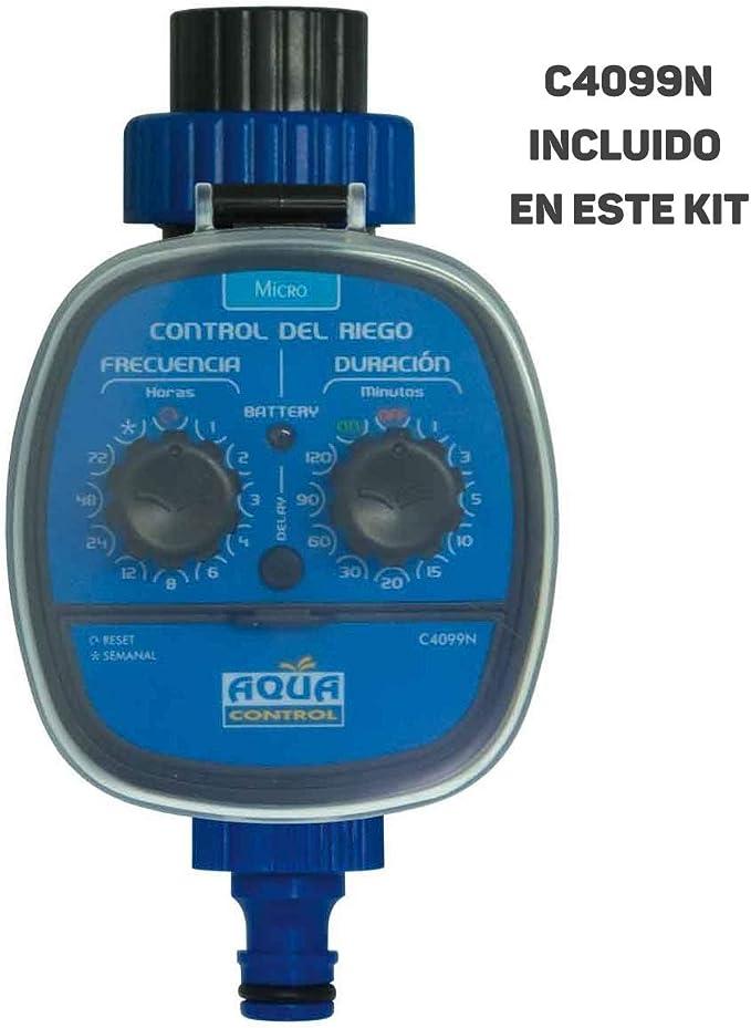Aqua Control Programador C4099O + Kit Micro-riego para 12 Plantas ...