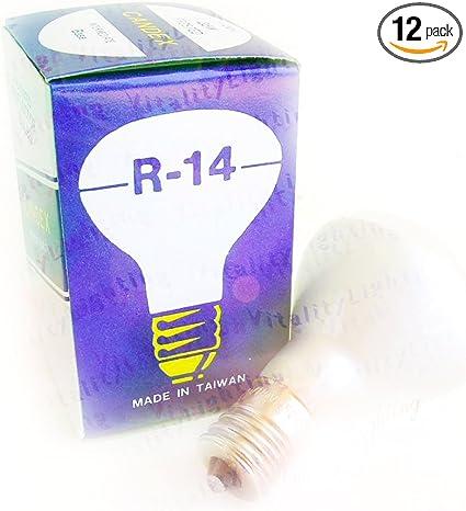 Intermediate Base Lot of 2 E17 ACE Floodlight 40W Incandescent R14 Bulb