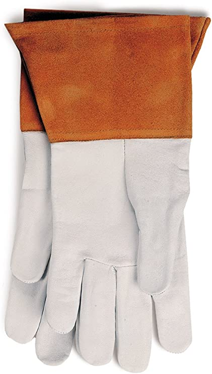 Extra-Large Cream and Rust Forney 55210 TIG Welding Gloves