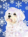 Cheap Caroline's Treasures SS4619CHF Maltese Winter Snowflakes Holiday Flag Canvas, Large, Multicolor