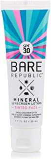 product image for Bare Republic Mineral Tinted Face Sunscreen Lotion. Lightweight and Water-Resistant Tinted Moisturizer, 1.7 Ounces