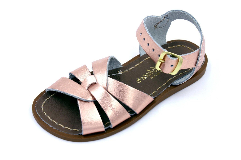 Salt Water Sandals by Hoy Shoe Girls' Salt Water Original Flat Sandal, Rose Gold, 9 W11 M US Big Kid