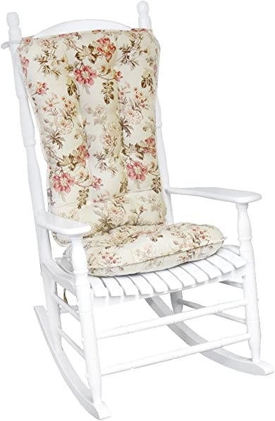 Greendale Home Fashions Jumbo Rocking Chair Cushion Set Farrell Floral Fabric