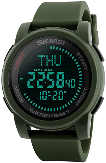 Precise Skmei Men Sports Watches World Time Compass Countdown Wristwatches 50m Waterproof 3 Alarm Digital Watch Automatic Army Military Watches