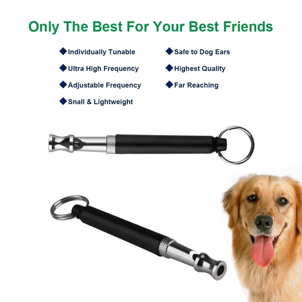 Frequenza regolabile ultrasuoni Bark Control training attrezzo per cani Giveet cane fischietto a smettere di abbaiare 2 pezzi con free cordino da polso