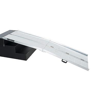WORHAN® 2.15m Rampa Plegable Carga Silla de Ruedas Discapacitado Movilidad Aluminio R7: Amazon.es: Coche y moto