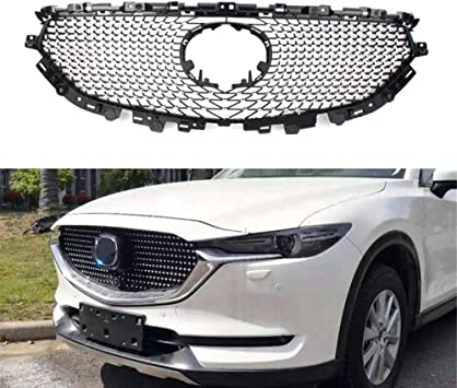 7PCS Beautost Fit For Jeep Wrangler 2018 2019 Front Grill Grille Cover Trim Chrome