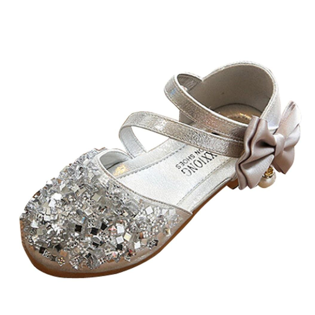 WensLTD Toddler Kids Girls Baby Fashion Princess Dance Leather Casual Single Shoes
