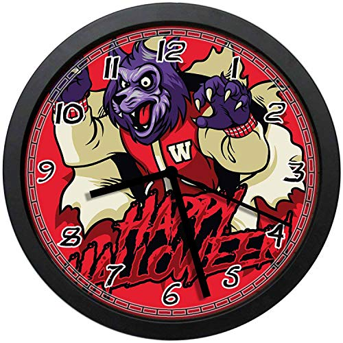 BCWAYGOD Scary Supernatural Werewolf Happy Halloween Icon with Red Background Round 12