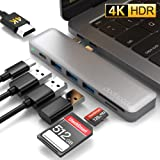 dodocool Macbook Pro USBハブ 4K HDMI出力 Type C ハブ 100W PD充電 3 USB3.0ポートSD&Micro SDカードリーダー Macbook Pro 2019 / 2018 / 2017 / 2016 /Macbook air 2019 /2018に対応 thunderbolt 3も対応