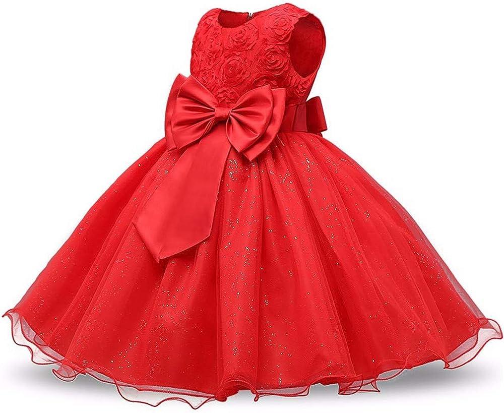 Wang-RX Princesa Vestido de niña de Flores Verano Tutu Boda Fiesta ...