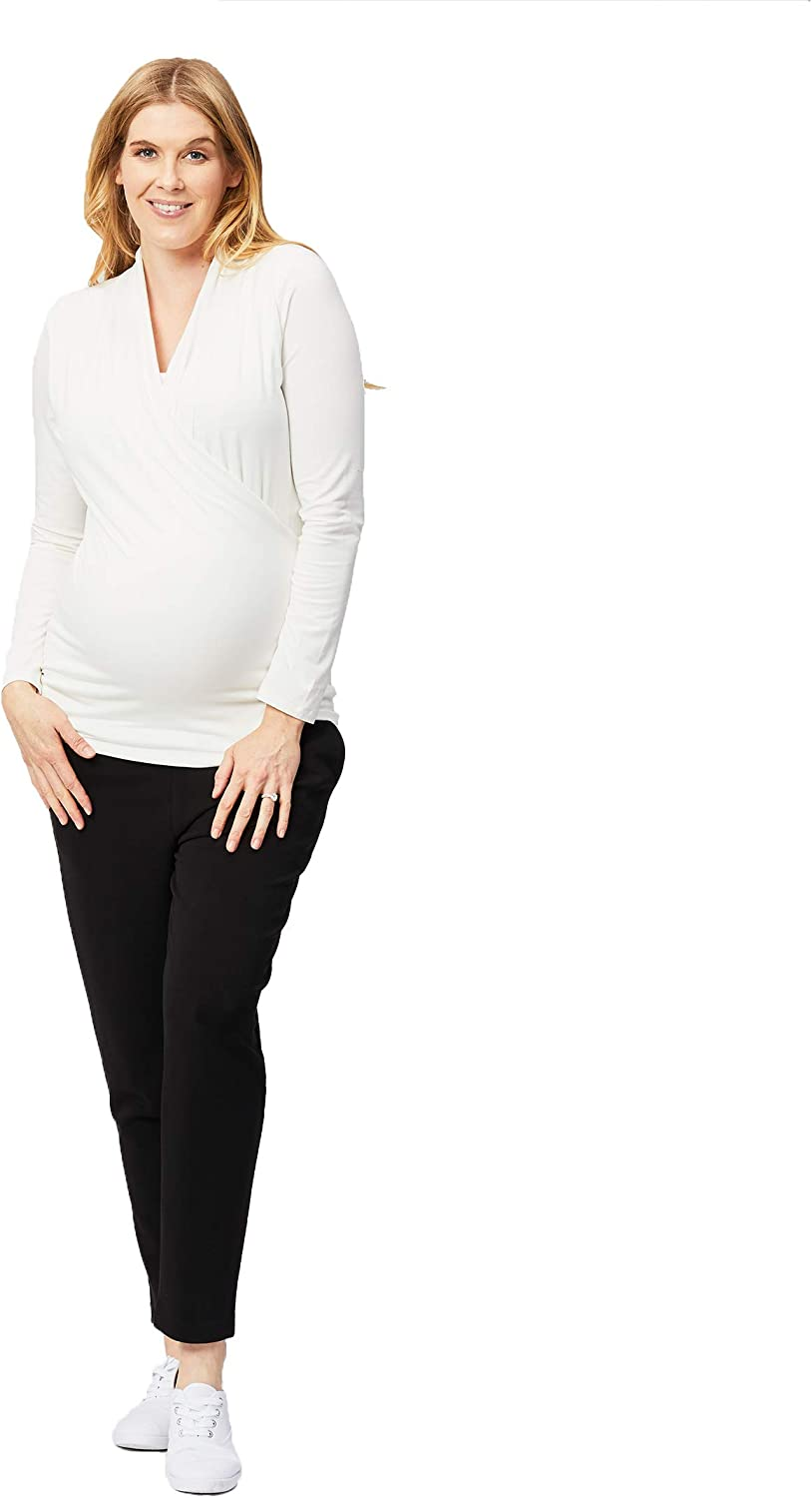 X-Small T-Shirt Cake Maternity Womens Long Sleeve Maternity and Nursing Top White
