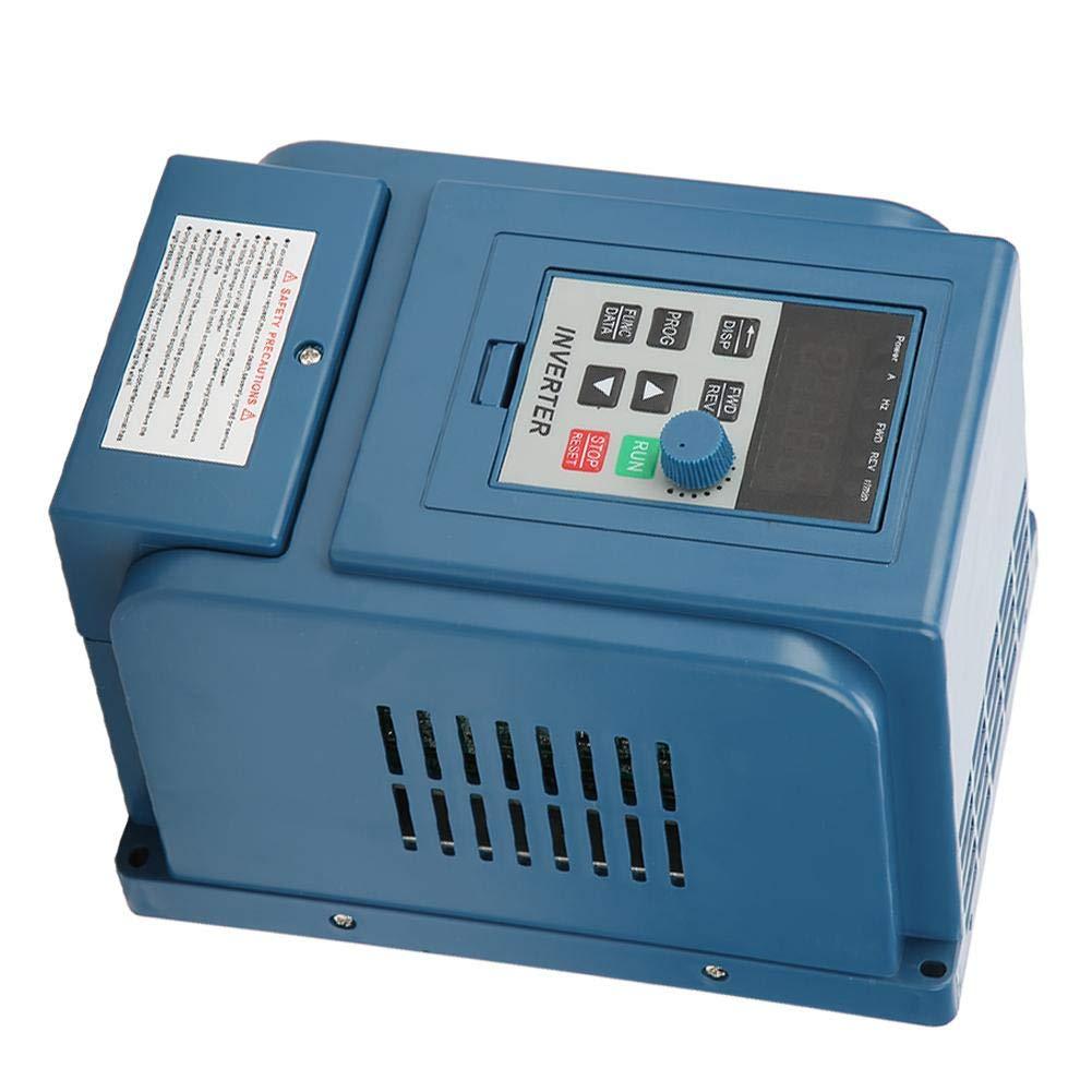 Frequenzumrichter 380 VAC 3A mit 0,75 kW und 1 PS Drehzahlregler f/ür dreiphasigen VFD-Regler mit 0,75 kW Wechselstrommotor 3-Phasen-Frequenzumrichter